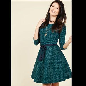 ModCloth Curating Clientele A Line Dress, Medium